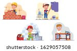 kids professional workers.... | Shutterstock .eps vector #1629057508