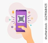 people use smartphone to qr... | Shutterstock .eps vector #1629068425
