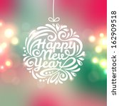 happy new year lettering... | Shutterstock .eps vector #162909518