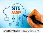 word writing text site map....