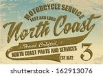 north coast print vector | Shutterstock .eps vector #162913076
