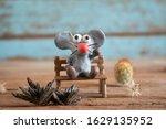 rat from plasticine cartoon... | Shutterstock . vector #1629135952