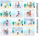 office workers set  people...   Shutterstock .eps vector #1629158965