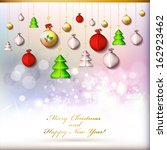 happy new year and merry... | Shutterstock . vector #162923462
