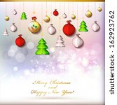 happy new year and merry...   Shutterstock .eps vector #162923762