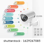 home security camera video... | Shutterstock .eps vector #1629267085