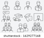 set of student icons  such as... | Shutterstock .eps vector #1629277168