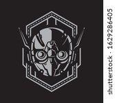 illustration of robot head grey ...   Shutterstock .eps vector #1629286405