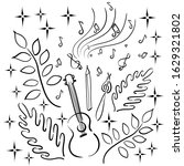 hobbies   ukulele guitar ... | Shutterstock .eps vector #1629321802