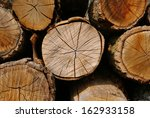 Close Up Of Logs Of Wood