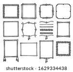 simple doodle frames and... | Shutterstock .eps vector #1629334438