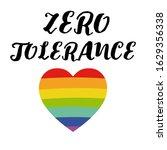 zero tolerance. handwritten... | Shutterstock . vector #1629356338