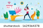 computer virus threat trendy... | Shutterstock .eps vector #1629364378