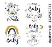 baby shower invitation  mom to... | Shutterstock .eps vector #1629382765