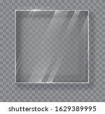 Transparent Glass Plate Mock Up....