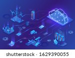 internet of things cloud... | Shutterstock .eps vector #1629390055