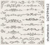 vector set of calligraphic...   Shutterstock .eps vector #1629394612