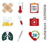 medical icon over white... | Shutterstock .eps vector #162940646