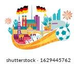 vector illustration city of... | Shutterstock .eps vector #1629445762