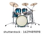 Set Of Drums  Isolated On White ...