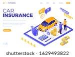 car insurance isometric concept ...   Shutterstock .eps vector #1629493822