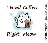kawaii cat  vector illustration.... | Shutterstock .eps vector #1629542002
