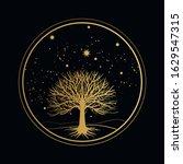 sacred tree. vector hand drawn... | Shutterstock .eps vector #1629547315