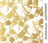 golden brush smear strokes... | Shutterstock .eps vector #1629590095