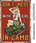 retro military colorful poster... | Shutterstock . vector #1629622942