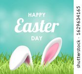 happy easter background with... | Shutterstock .eps vector #1629634165