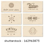 vector vintage business card... | Shutterstock .eps vector #162963875