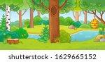 vector illustration with summer ...   Shutterstock .eps vector #1629665152