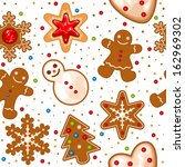 christmas pattern with... | Shutterstock .eps vector #162969302