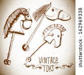 Vintage Toys  Wooden Rocking...