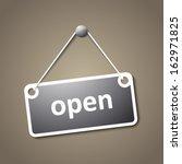 open hanging sign | Shutterstock .eps vector #162971825