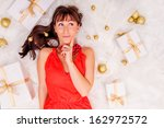 thinking gifts online shopping... | Shutterstock . vector #162972572