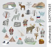 hand drawn russia doodle people ... | Shutterstock .eps vector #1629770635