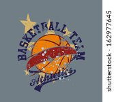 College Basketball Team Vector...