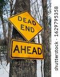 Yellow Triangular Dead End...