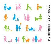 colored family icon set   Shutterstock .eps vector #162980126