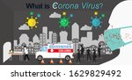 corona virus in city with... | Shutterstock .eps vector #1629829492