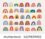 abstract vector rainbow set.... | Shutterstock .eps vector #1629839002