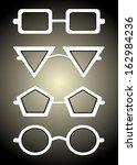 glasses and sunglasses... | Shutterstock .eps vector #162984236