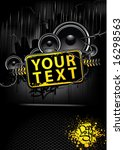 placard with banner in dark... | Shutterstock .eps vector #16298563