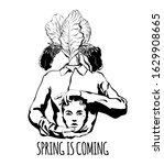 spring is coming. vector hand... | Shutterstock .eps vector #1629908665