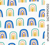 abstract seamless pattern with... | Shutterstock .eps vector #1629909202
