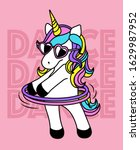 dance dance dance unicorn fun | Shutterstock .eps vector #1629987952