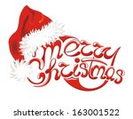 christmas background with santa ... | Shutterstock .eps vector #163001522
