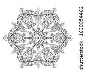 outline mandala for coloring... | Shutterstock .eps vector #1630054462