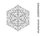 outline mandala for coloring... | Shutterstock .eps vector #1630054465